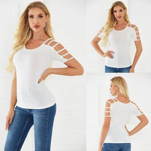 T shirt Hot Drill Off Shoulder Slim Fit Women Clothing Tees & Polos Fashion Designers Matching Leggings and Dresses