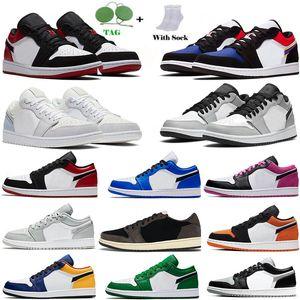 Jumpman 1 Low 1s basketball shoes Top OG black toe court purple SP men women sneakers Eur 36-46