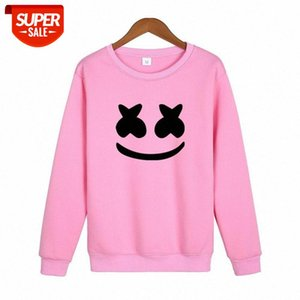 Spring and Autumn marshmello smiley face sweater casual long-sleeved round neck pullover #bx8p