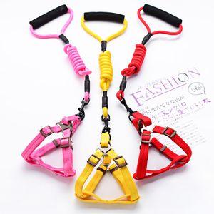 Тяговой ремешок для домашних животных на груди маленькая и средняя трогательная веревка Bomei Chai жилет Летняя собака цепь RH0J