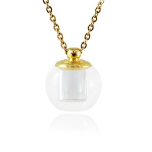 Anhänger Halsketten 1 stück Glasfläschchen Halskette Ätherisches Öl Parfüm Andenken Wunschkugel