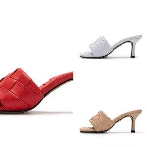 Okrsw Bayan Lüks Topuklu Sandalias Slaytlar Kaydırıcılar Kadınlar Yüksek Kalite Sandalet Luxurys Ayakkabı Tasarımcılar Terlik SlipcıkPerslipers