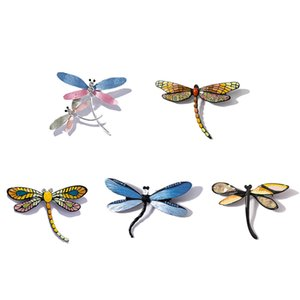 Brooches Pins of Fashion Jewelry Handmade Butterfly Vintage Enamel Insect Collar Metal Designer Magnet Brooch Pin