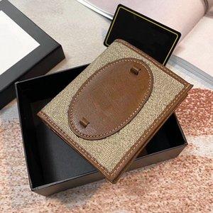 Portafogli da uomo e da donna Portafogli Style Style Style Style Style Modello di lettere classico con doppio portafoglio fibbia ad anello di alta qualità WF2103293