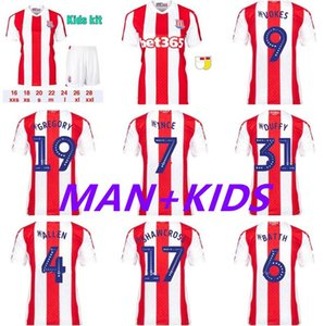 2021 22 Stoke City Soccer Jerseys Clucas 2022 Gregory Powell Campbell قميص McClean Vokes Abobe Jersey Man Kids Kit