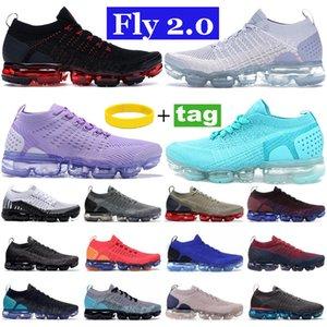 2020 오카 니트 2.0 실행 신발 배 블랙 멀티 컬러 CNY 순수 Platinu 화이트 먼지 선인장 자정 해군 남성 여성 스니커즈