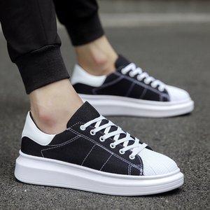 Yaz Çift Nefes Kanvas Ayakkabılar Erkek Platformu Sneakers Rahat Öğrenci Moda Dış Ticaret