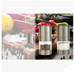 Stainless Steel Black Peppers Grinder Pepper Coffee Beans Manual Grind Tools Kitchen Accessories Mills Salt Spice Supplies Grinders BWF10313