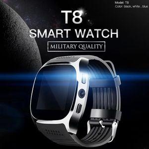 T8 Bluetooth Smart Watch mit Kameratortelefon TFT SIM Karten Schrittzähler Leben Wasserdicht Für Android Armband Smartband Smartwatch U8 DZ09
