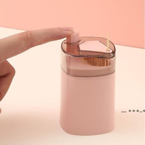 Automatic Toothpick Holder Container Creative Plastic Household Table Toothpick Storage Box Portable Toothpick Bucket Dispenser EWA8733