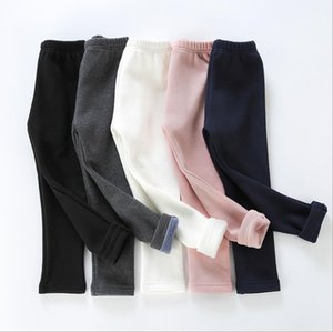 Winter Girls Leggings Thick Cotton Kids Tights Solid Children Girl Trousers Warm Toddler Pants Kids Boutique Clothing 7 Colors DW6135