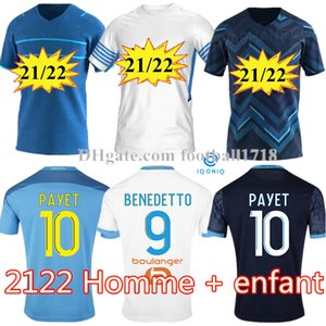 Olympique de Marseille Soccer Jersey 2021 2022 om Marseille de Mailleot Foot Payet Thauvin Benedetto Polo Jerseys 20 21 22 Marseily Milik Shirts