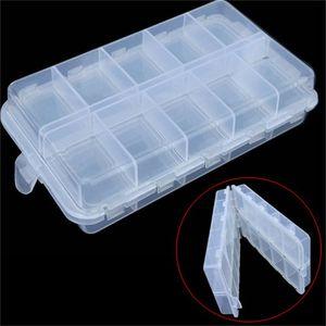 16.6 * 9.7 * 4.1cm Plástico 20 compartimentos Caja de aparejos de pesca para señuelos de pesca Caits Caja de almacenamiento 917 Z2
