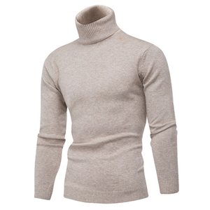 Winter Thick Warm 100% Cashmere Sweater Men Turtleneck Brand Mens Sweaters Slim Fit Pullover Men Knitwear Double collar