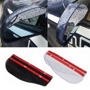 2 unids Universal PVC Accesorios para automóviles Retrovisor Espejo Sombra de lluvia Cuchillas a prueba de lluvias Espejo Retrovisor Tapa de lluvia