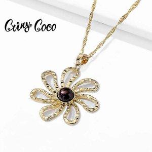 Cring Coco 2021 Hawaiian Style قلادات للنساء زهرة الفاخرة الحفلات الصيفية الصيف جودة سلسلة سلاسل المجوهرات الخاصة