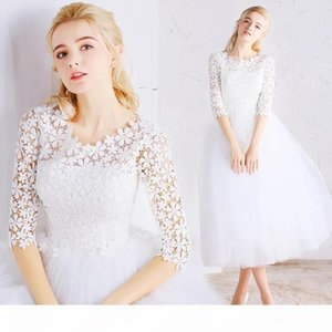 Dress spring new party ladies small fresh sleeves popular white lace dress summer dress Party Dresses