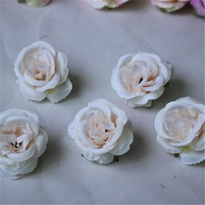 10pcs lot Mini Artificial Flowers Silk Roses Heads For Wedding Decoration Party Fake Scrapbooking Floral Wreath Home Acc 551 V2