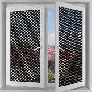 Window Stickers Self-adhesive Mesh Film Black White Sun Light Privacy Room Darkening Glass Sticker