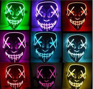 Rave Toy Halloween Maske LED leuchten Party Masken Das Spülwahlen Jahr Great Funny Festival Cosplay Kostüm liefert Glühen in Dunkelheit