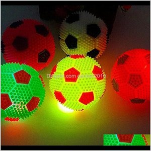 Chews High Quality Flashing Light Up Colorful Toy Novelty Sensory Dog Ball Squeak Toys Sound 7Cm X3Avu 6W9Ee