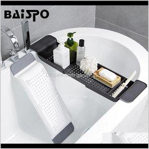 Accessorio da bagno Set Baispo Vasca da bagno retrattile Scatolamento Scacco Scacco Scaffale Cucina Sorage Rack multifunzione Accessori per il bagno Set Lay6V FZ3AB