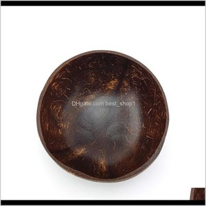 Bowls Natural Coconut Bowl Decoration Fruit Salad Noodle Rice Wooden Handicraft Cre Sqcjlr Ge0Yi Tom6K