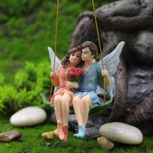 Craftwork Fairy Couple Pendant Resin Home Garden Hanging Decor Indoor Wedding Ornaments Festival Gift Children Toy Decorations