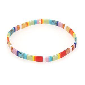 Go2boho Rainbow Bracelet For Women Boho Beach Jewelry Tila Bead Bracelets Girl Gifts 2021 Bohemian Jewellery Stretch Pulsera
