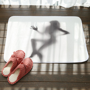 Sexy figura ombra vasca da bagno tappetino assorbente nonlip cucina porta tappeto tappeto tappeto soggiorno camera da letto piano tappetino