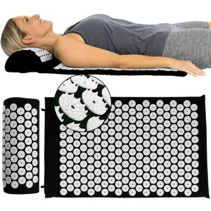 Acupressure Massage Mat (appro.68*42cm) Relieve Back Body Pain Spike Relax Stress Yoga Cushion With Pillow kuznetsov