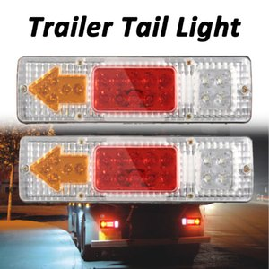 2pcs Vehicle 12V 19 LED Car Truck Trailer Tail Stop Light Reverse Turn Indicator Arrow Lamp Truck Signal Turning Lamp