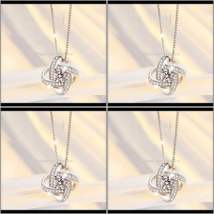 & Pendants Drop Delivery 2021 Arrival 925 Sterling Crystal Clover Necklaces Pendant Pure Sier Cross Jewelry For Women Pmcjc