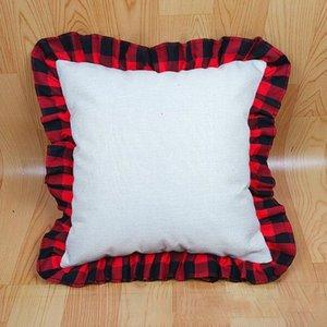 Buffalo Plaid Blank Sublimation Pillow Case Grid Heat Transfer Cushion Cover Home Sofa Pillowcases