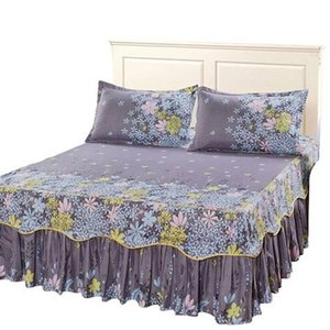 Sheets & Sets Cotton Bed Skirt Summer Bedspread Single Piece Dust Protective Cover 1.5m 1.8 Sheet Mattress Fitted Non Slip