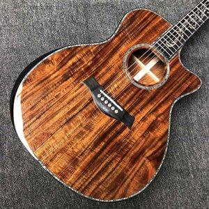 Custom Aaaa All Solid Koa Wood Top Acoustic Guitar Cocobolo Back Side PS14AA Armrest