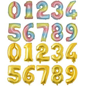 Helium Balloon 32 Inch Gold Letter Number Aluminum Foil Balloons Helium Ballons Birthday Decoration Wedding Air Balloon Party Supplies