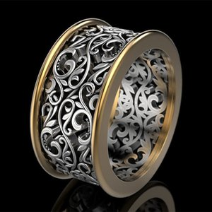 Cao Shi Hot Selling Creative Retro Hollow Pattern Alloy Mens Ring Europe and America Cross Border Ornament Wholesale