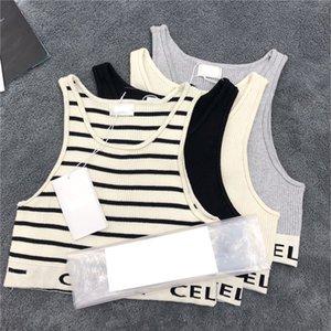 Yaz Elastik kadın Tankları Moda Mektup Baskı Marka Camis Açık Nefes Yumuşak Dokunuş Kız Spor Yelek