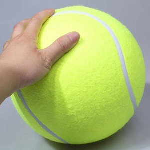 24CM For Chew big Inflatable Tennis Signature Mega Jumbo Pet Toy Ball Supplies Outdoor Cricket K0753