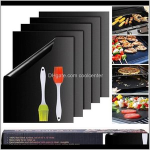 Tools & Accessories Reusable And Easy To Clean Bbq Barbecue Grill Pad Mats Works With Gas Electric Charcoal Grills Fda-Appd Pfoa Kpmrp Zyebk
