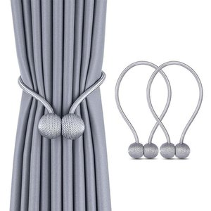 Curtain & Drapes 1Pc Pearl Tie Rope Backs Holdbacks Buckle Clips Accessory Rods Accessoires Hook Holder Home Decorations
