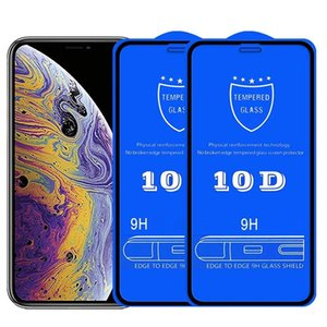 10D Tempered Glass Full Cover Screen Protector Film For iPhone 13 Pro Max 12 Mini 11 XS XR X 8 7 6 Plus SE wholesale price