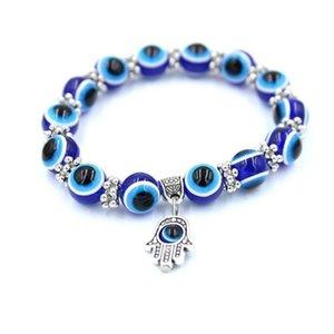 Manufacturer's direct selling express popular hand Beads strands string Vintage Blue Eye Bead Fatima's hands devil's Eyes Lucky Bracelet