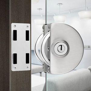 glass door lock security lock House building Ornamentation Hardware 304 stainless steel Anti-theft locks