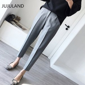 Plus Size Formal Pants for Women Office Lady Style Work Wear Straight Trousers Female Clothing Business Design New Hot Fashion