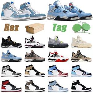 Air Jordan 1 Scarpe da basket 1s uomo donna OG 1 hyper royal university blu scuro mocha 4s black cat fire red mens sneakers sportive