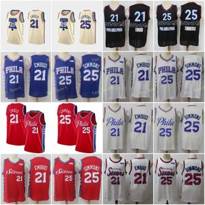 City Earned Edition Joel 21 Embiid Basketball Jerseys Ben 25 Simmons Allen 3 Iverson Men Stitched Size S-3XL