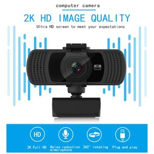 Webcam USB Auto Focus 2K HD Web Camera Kamera With Mic For Desktop Laptop PC Webcams