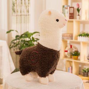 Net red alpaca doll cute animal grass mud horse plush toy creative children play wholesale XZ014569